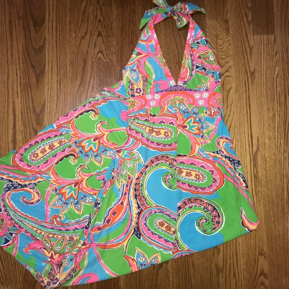 Lilly Pulitzer Dresses & Skirts - Lilly Pulitzer Vintage Halter Maxi Dress Size 2 P